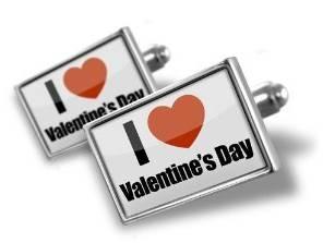 "Cufflinks ""I Love Valentine""s Day"""