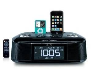 iLuv iMM173 Alarm Clock and Dual Dock for iPod and iPhone