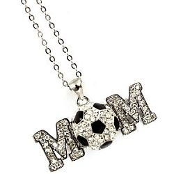 The Cutest Crystal Soccerball MOM Lovers Necklace Ever