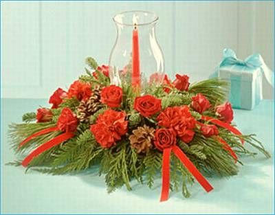 Christmas flower arranging
