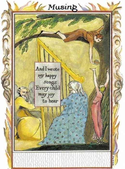 Musing William Blake Tarot