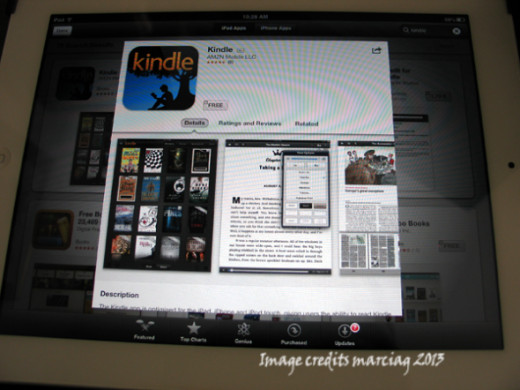 find the Kindle app on the iPad