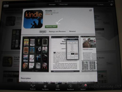 install Kindle app