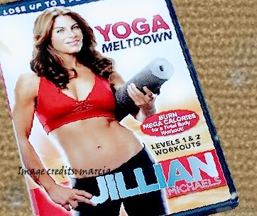 This is my yellowed and creased Jillian Yoga DVD