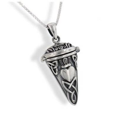 Celtic Knot and Heart Pendulum Prayer Box Pendant