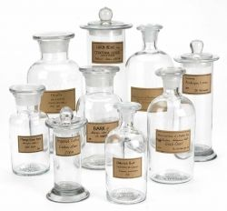 Botany Apothecary Jars with Antiqued Labels