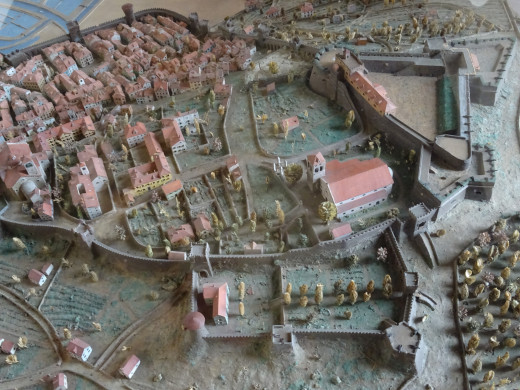 Plans or the original fortified Roman Town