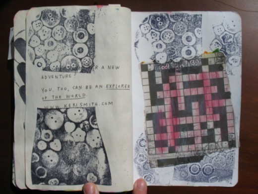 Handmade Upcycled Stencils And Stamps