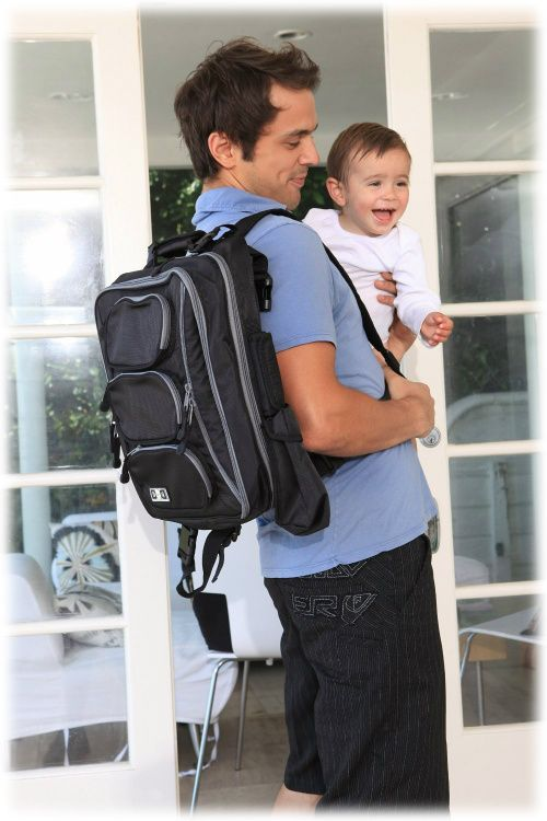 Backpack diaper bag for dad