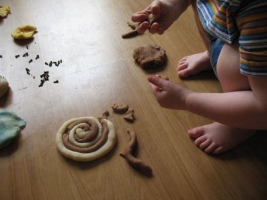 Cinnamon Swirl Playdough