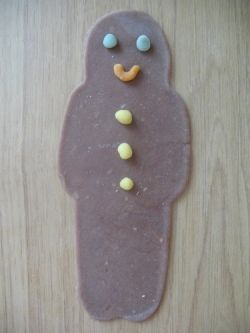 Play-dough Gingerbread Man