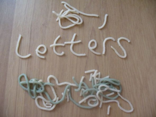 Play-dough Letters
