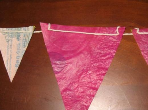 Making Plastic Bag Bunting by MeltedRachel