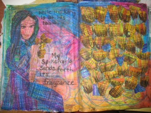 A Collaged Journal Page by MeltedRachel