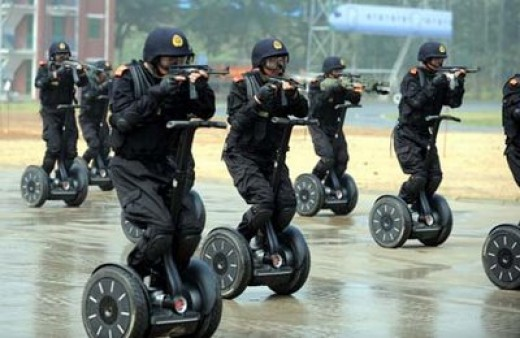 I'd like to see the local police department give these Segway riders a ticket! :)