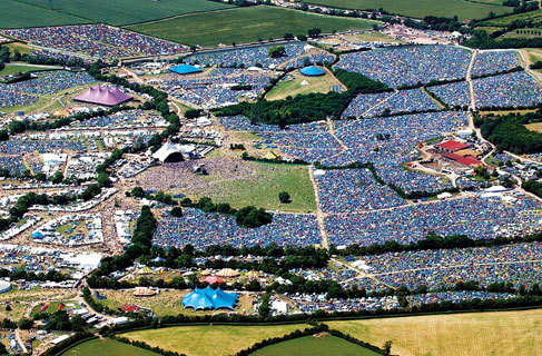 The blue areas you can see are thousands and thousands of tents!