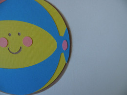 Beach Ball end spot adhered