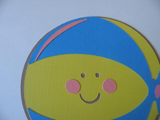 Beach Ball cheeks & shadow adhered