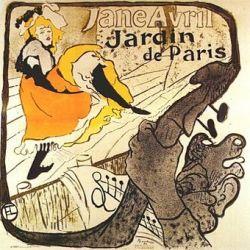 Jane Avril - Jardin de Paris by Henri de Toulouse-Lautrec