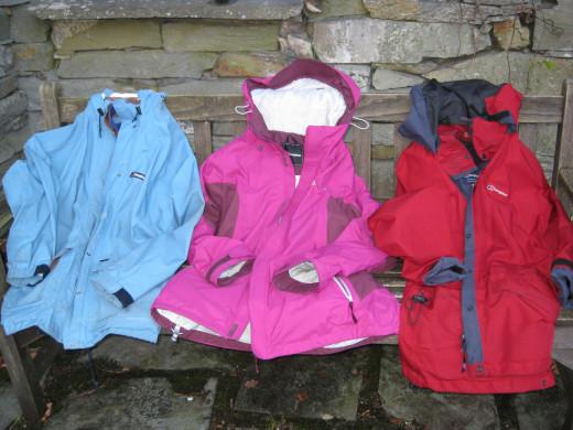 Here are my three Berghaus jackets.