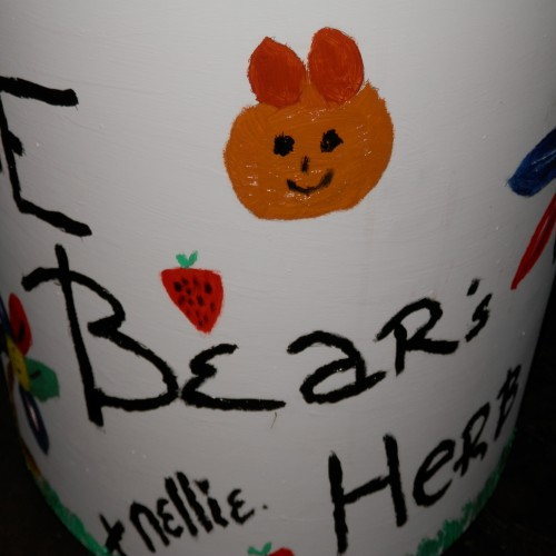 Strawberries and a bear. Uncle Ted Bear... Geddit?