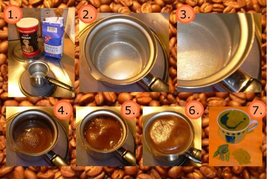 Making Turkish Coffee