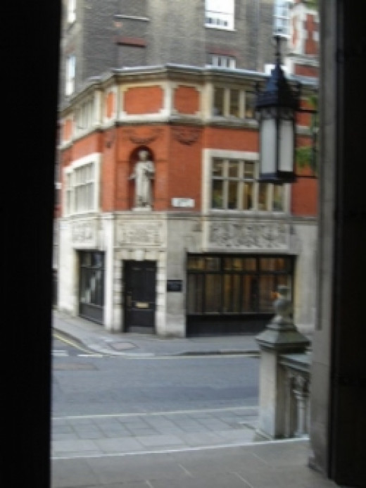 Dickensian Carey Street viewed from back of Central Law Court