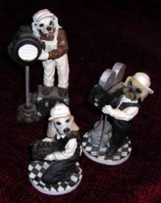 Doggy Film Crew - clay figurines