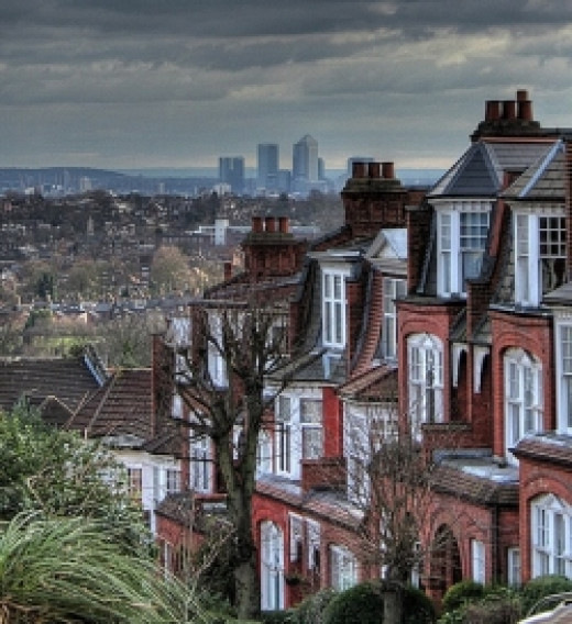 View of City of London from Muswell Hill