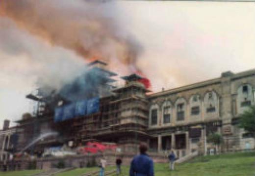 Fire at Alexandra Palace