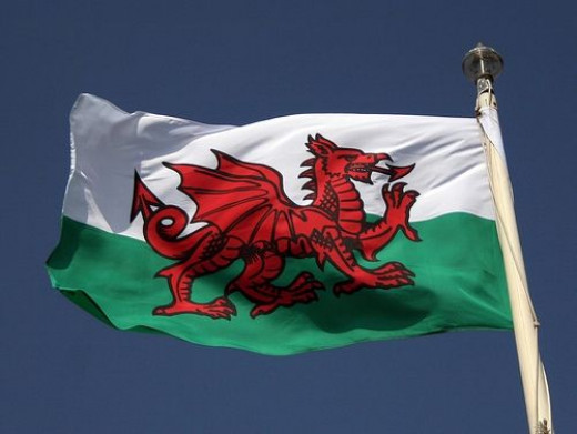 Welsh flag, courtesy of