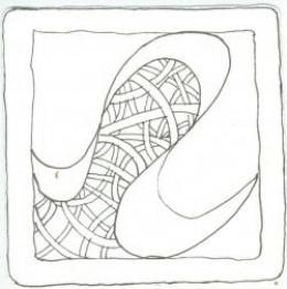 Zentangle tangle 1