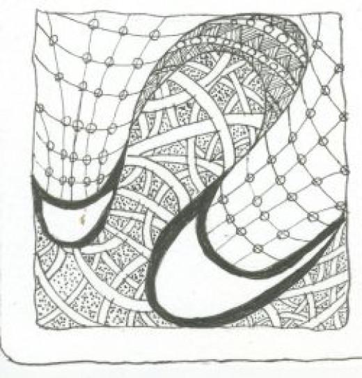 Zentangle tangle 3
