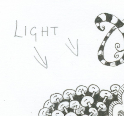 Determine the direction of light