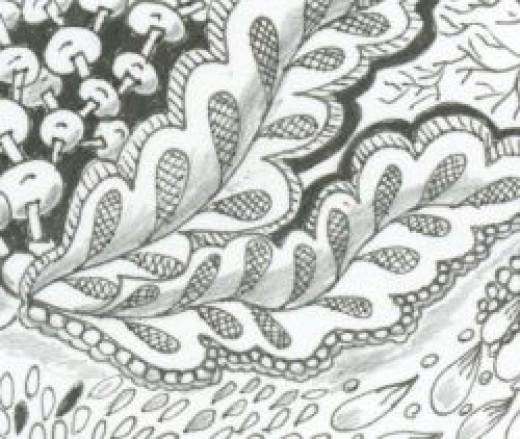 Detail of Zentangle Shadow