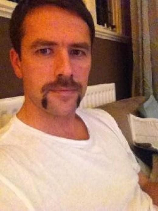 Michael Owen' Movember 'tash, via Twitter