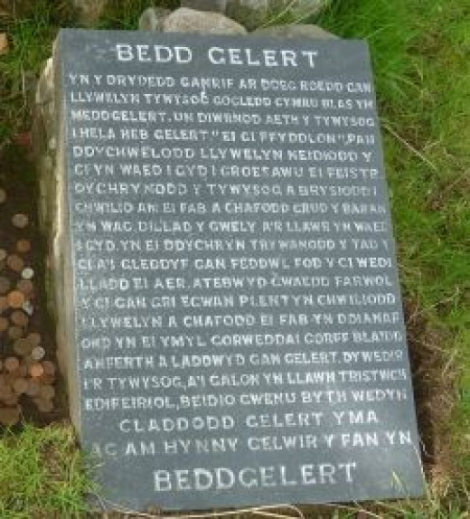 The Welsh Inscription At Gelert's Grave
