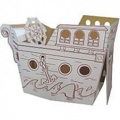 Cardboard Cubby Houses for Kids