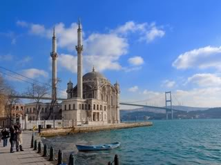 Istanbul - Mosque of Ortaka by Suat Eman
