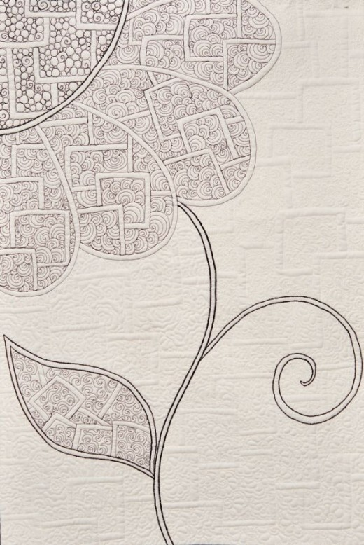 This lovely quilt design is kindly shared by Olga Kuba under a creative commons license (CC-BY-2.0). Print out and color but do not republish without contacting her for permission. Zentangle qult by Olga Kuba CC.BY.2.0