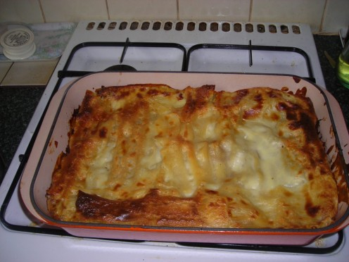 That beautiful cheesy lasagne looks so good you can almost smell it