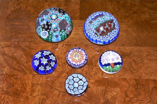 Venetian glass paperweights