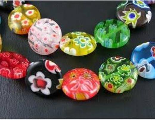 millefiore beads