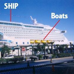 Cruise Ship carrying Life Boats
