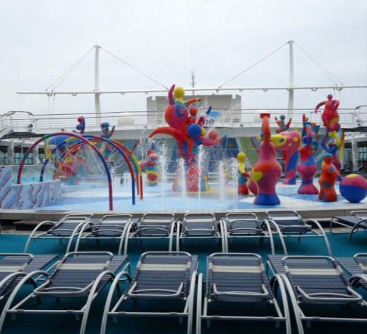 H2O Zone on the Freedom of the Seas is a splash area for kids and families