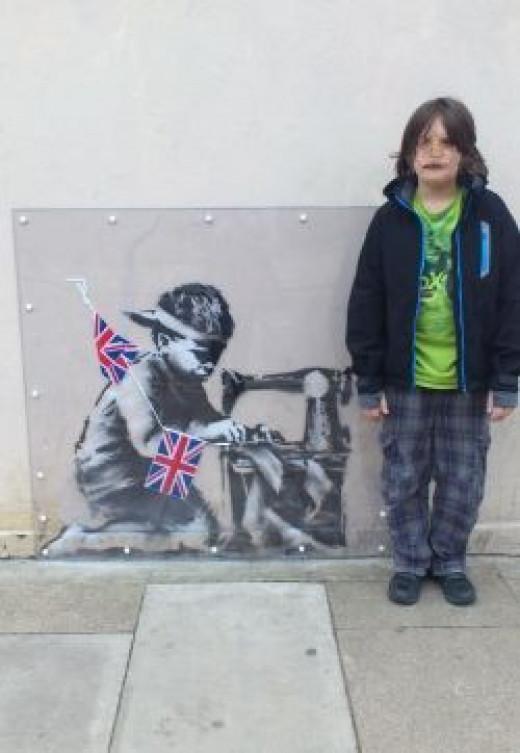 Child Slavery (2014) by Banksy