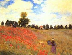 Poppy Field by Monet