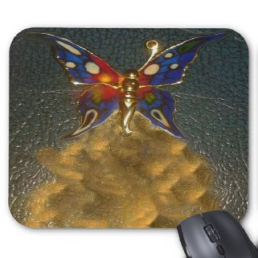 Mousepad - Turbo Butterfly Fantasy Design