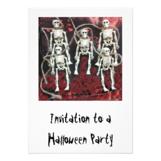 Halloween Party Invitation: Skeletons