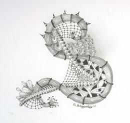 Zentangle-inspired
